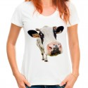 Koszulka z krową damska