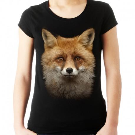 Koszulka z lisem damska