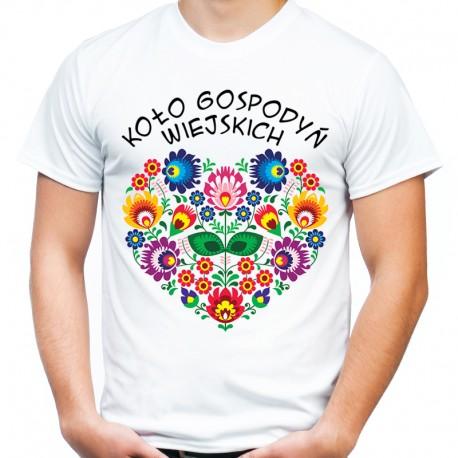 Koszulka z sercem folk Koło Gospodyń Wiejskich