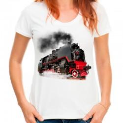 Koszulka damska z parowozem