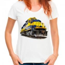 Koszulka damska z lokomotywą