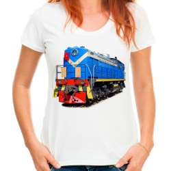 Koszulka damska z pociągiem
