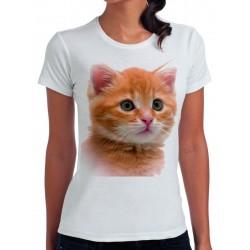 t-shirt damski z kotem KT004