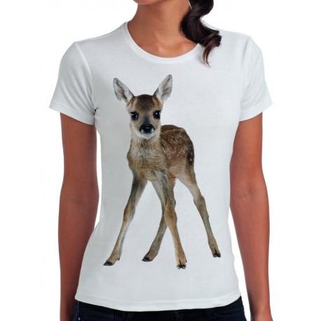 koszulka damska z sarną LS001