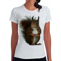 koszulka damska z wiewiórką LS002