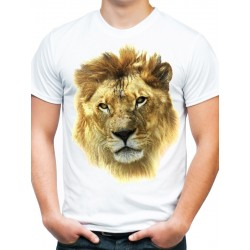 Koszulka z lwem męska KT02M