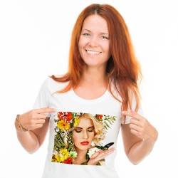 Koszulka z nadrukiem damska A4