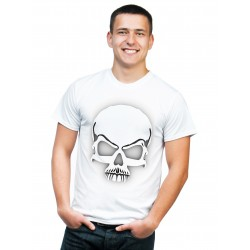 Koszulka męska z czaszką 3D
