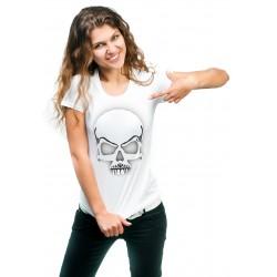Koszulka damska z czaszką 3D