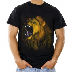 Koszulka męska z lwem A01047