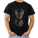 Koszulka męska z głową psa
