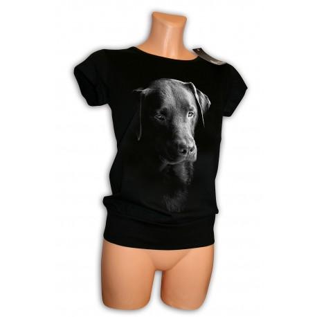 czarna tunika z psem