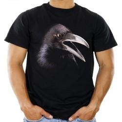 Koszulka męska z krukiem