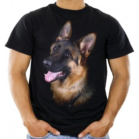 Koszulka męska z owczarkiem niemieckim