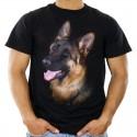 Koszulka męska z psem owczarkiem niemieckim