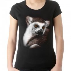 Bluzka czarna z lemurem