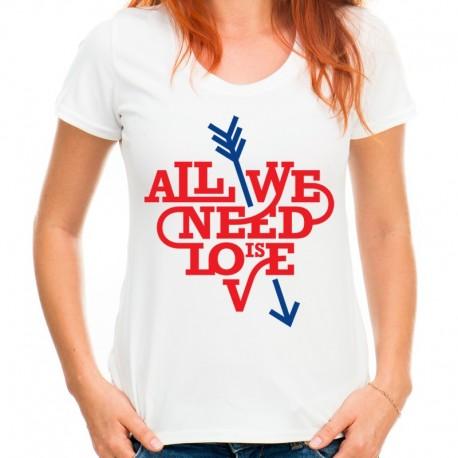 koszulka damska ALL WE NEED IS LOVE