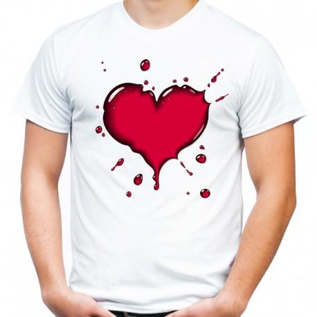 1750e4f79 koszulka męska z SERCEM 2 - Sklep Miromiko