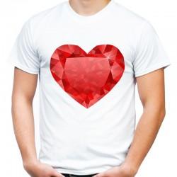 koszulka męska SERCE